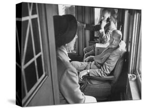 Dwight D. Eisenhower on the Train During the Presidential Campaigns by Joe Scherschel