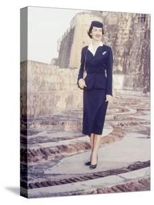 Eastern Airlines Stewardesses in Puerto Rico by Joe Scherschel