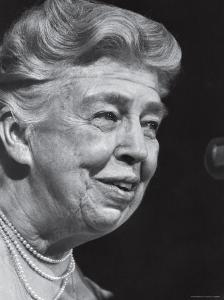 Former First Lady Eleanor Roosevelt Speak at Democratic Fundraising Dinner Honoring 75th Birthday by Joe Scherschel