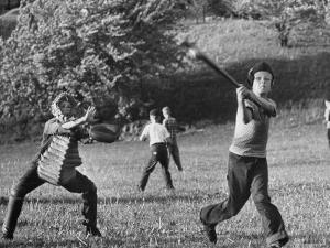 Little League Baseball Practice by Joe Scherschel