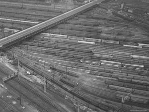 Rail Road Cars During Rail Strike by Joe Scherschel