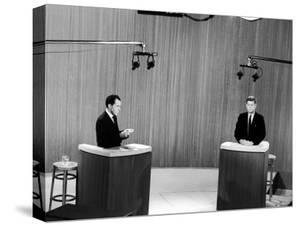 Senator John F. Kennedy and Vice President Richard M. Nixon, During 4th Nixon Kennedy TV Debate by Joe Scherschel