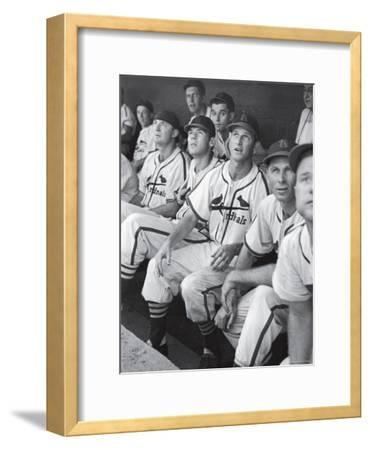 Stan Musial St. Louis Cardinals Most Outstanding Player Following Foul Ball from Bench