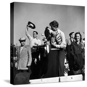 Texas University Students Kissing After a Close Football Victory over Southern Methodist University by Joe Scherschel