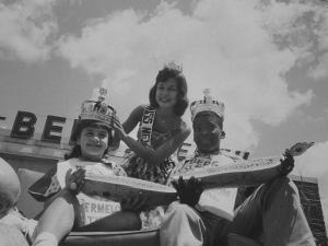 The King and Queen of the Watermelon Eating Contest by Joe Scherschel