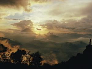 The Volcanic Cone of Santa Maria Pierces the Clouds in the Western Highlands of Guatemala by Joe Scherschel