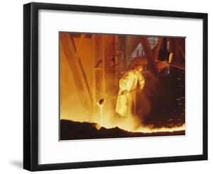 View of a Steel Worker Working in Protective Clothing by Joe Scherschel