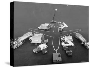 View of Equipment Needed to Service a Boeing 707 Jet by Joe Scherschel