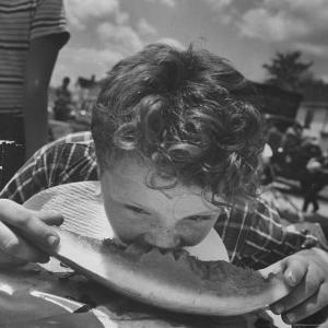 Watermelon Eating Contest by Joe Scherschel