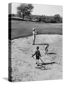 Woman Participating in Ladies Day at a Golf Club by Joe Scherschel