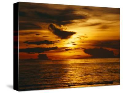 Sunset over Pacific Ocean, Yap Islands, Caroline Islands, Micronesia
