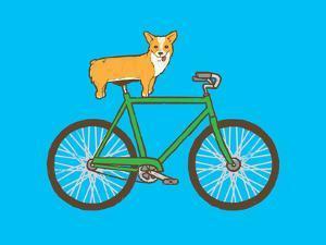 Corgi On A Bike by Joe Van Wetering