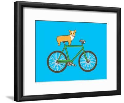 Corgi On A Bike