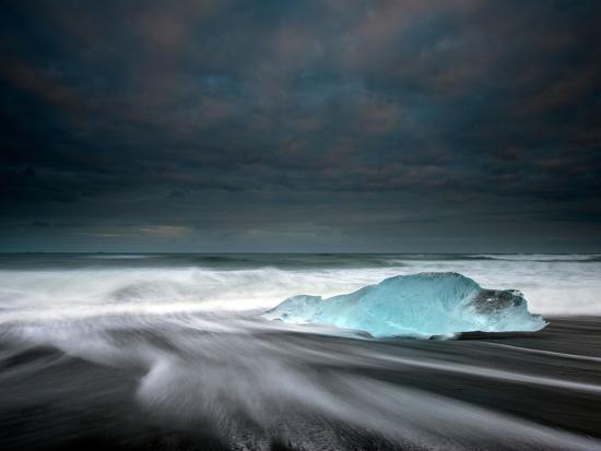 Jökulsárlón Frozen Ice Penguin, Iceland-Ann Clark Landscapes-Photographic Print