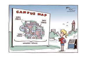 Campus Map. Safe space. Safe space. Safe space. Unsafe space. College conceal carry. by Joel Pett