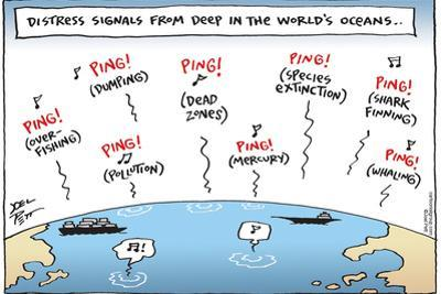 Distress signals from deep in the world's oceans…Ping! (Dumping)…Ping! (Pollution)…