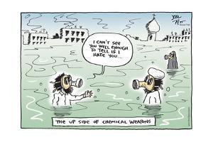 I can't see you well enough to tell if I hate you … The Up Side of Chemical Weapons. by Joel Pett