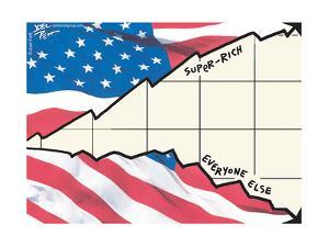Super-rich.  Everyone else. by Joel Pett