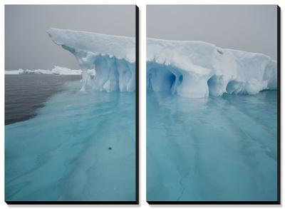Blue Ice on the Antarctic Peninsula on the Edge of Antarctic Sound