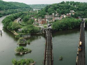 Bridges at the Confluence of the Potomac and Shenandoah Rivers by Joel Sartore