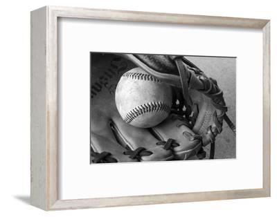 Detail Shot of a Baseball and Baseball Glove