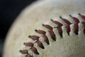 Detail Shot of a Baseball by Joel Sartore