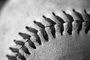 Detail Shot of a Baseball by Joel Sartore