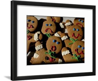 Gingerbread Cookies Display Different Facial Expressions