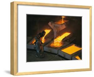 Molten Copper is Poured into Molds at Chuquicamata Copper Refinery by Joel Sartore