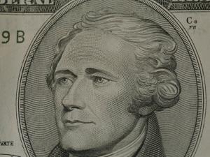 Portrait of Alexander Hamilton on the Ten Dollar Bill by Joel Sartore
