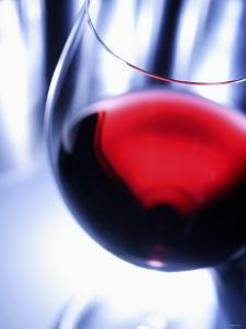 A Glass of Red Wine, Close-Up by Joerg Lehmann
