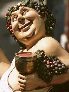 Bacchus, Roman God of Wine, Painted Wooden Figure by Joerg Lehmann