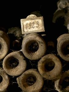 Old Wine Bottles in Jean-Louis Trapet's Wine Cellar, Burgundy by Joerg Lehmann