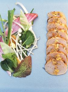 Sliced Swordfish Fillet and Salad Garnish by Joerg Lehmann