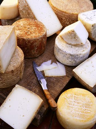 Various Types of Cheese from the Basque Region