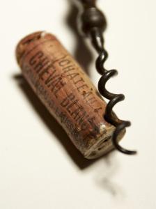 Wine Cork with Corkscrew by Joerg Lehmann