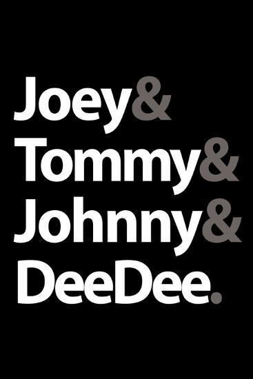 Joey Tommy Johnny and DeeDee Music Poster--Premium Giclee Print