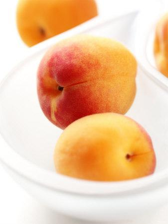 Apricots in a White Bowl