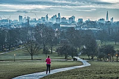 Jogger, Primrose Hill-Adam Butler-Giclee Print