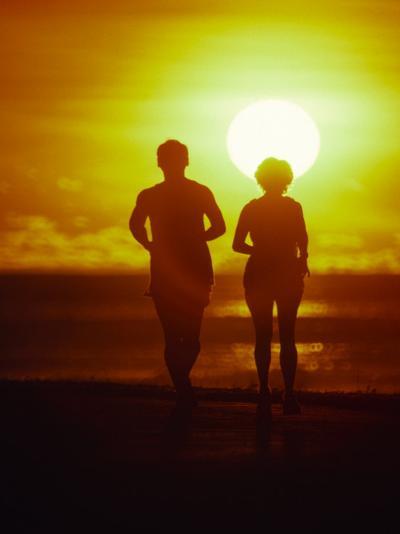 Jogging at Sunset-Douglas Peebles-Photographic Print