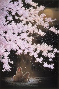 Falling Cherry Blossoms by Joh Naito