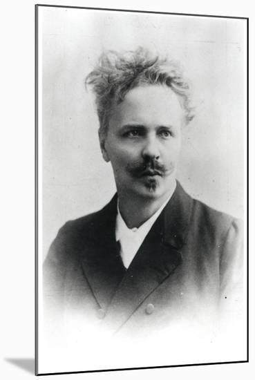 Johan August Strindberg (1849-1912)-Reutlinger Studio-Mounted Photographic Print