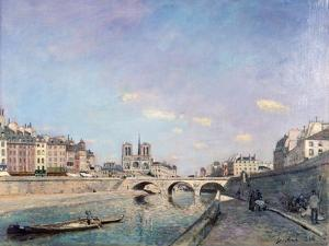 The Seine and Notre-Dame in Paris, 1864 by Johan Barthold Jongkind