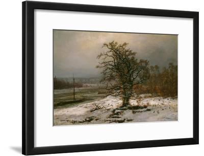 Oak Tree by the Elbe in Winter