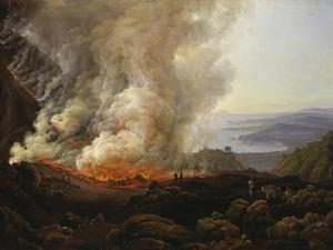 Vesuv Volcanic Eruption, 1826 by Johan Christian Clausen Dahl