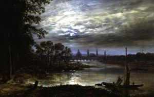 View of Dresden by Johan Christian Clausen Dahl