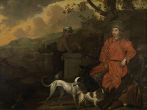 Portrait of Philippus Baldaeus and Gerrit Mossopotam, 1668 by Johan de la Rocquette