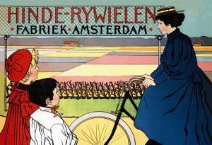 Hinde-Rywielen Factory in Amsterdam by Johan Georg Van Caspel