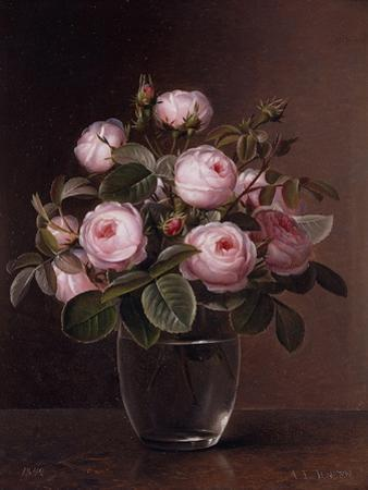 Roses in a Glass Vase, 1842