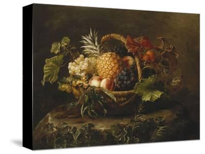 A Pineapple, Grapes, Peaches and Apricots in a Basket